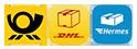 Lieferung: Deutsche Post, DHL oder Hermes